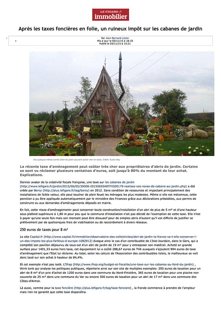 Vendargues infos taxe sur les abris de jardin for Taxe cabane de jardin